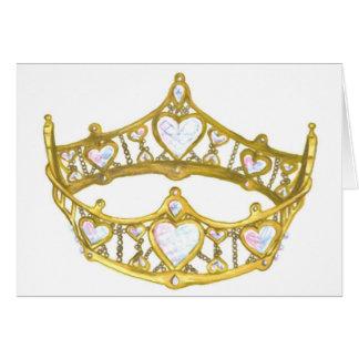 Reina de la tarjeta de nota de la corona de los co