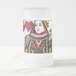 Reina de la taza esmaltada helada corazones