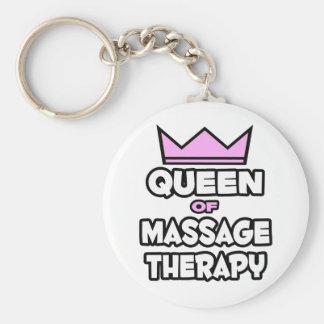 Reina de la terapia del masaje llavero personalizado