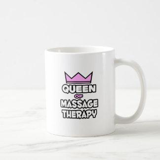 Reina de la terapia del masaje taza de café