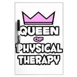Reina de la terapia física pizarras