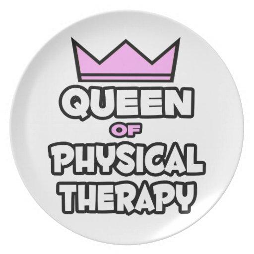 Reina de la terapia física plato para fiesta