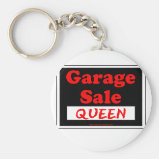 Reina de la venta de garaje llavero redondo tipo pin