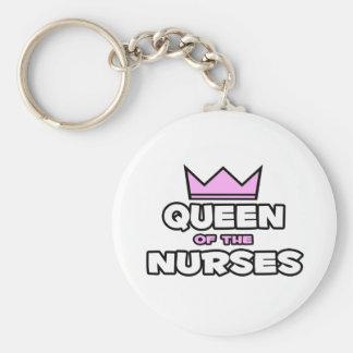 Reina de las enfermeras llaveros personalizados