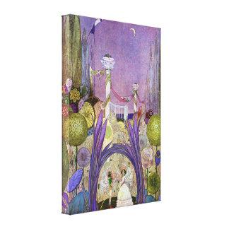 Reina de las flores de Thumbelina Impresión En Lienzo Estirada