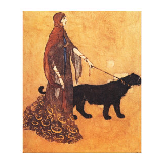 Reina de las islas del ébano impresión en lona estirada