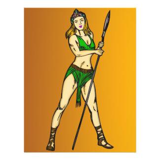 """Reina de las mujeres del Amazonas Folleto 8.5"""" X 11"""""""