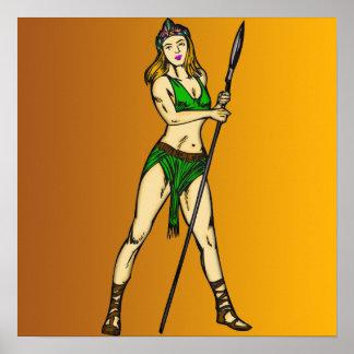 Reina de las mujeres del Amazonas Posters