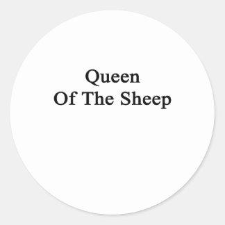 Reina de las ovejas pegatina redonda