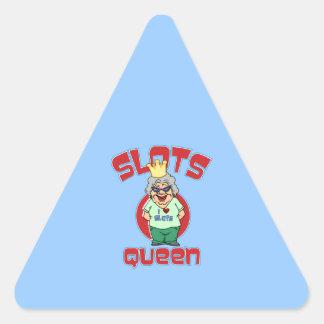 Reina de las ranuras - máquina tragaperras del pegatina triangular