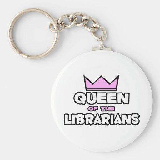 Reina de los bibliotecarios llaveros personalizados