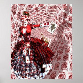 Reina de los corazones (Alicia-en-País de las mara Posters