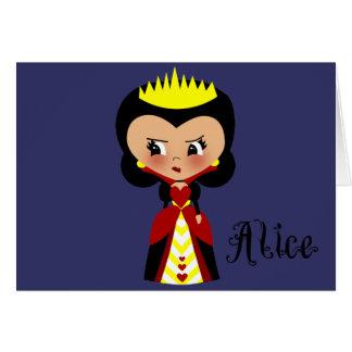 Reina de los corazones - las aventuras de Alicia e Felicitación