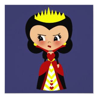 Reina de los corazones - las aventuras de Alicia Invitación 13,3 Cm X 13,3cm