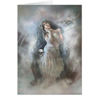Reina de los muertos tarjeta de felicitación