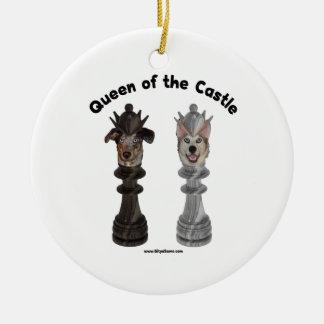 Reina de los perros del ajedrez del castillo adorno de reyes