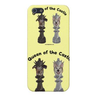 Reina de los perros del ajedrez del castillo iPhone 5 coberturas