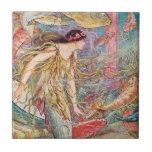 Reina de los pescados - libro de hadas anaranjado azulejos ceramicos