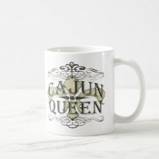 Reina de Luisiana Cajun Taza Básica Blanca