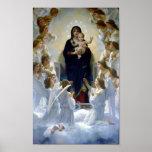 Reina de Madona de los ángeles Bouguereau Regina A Poster