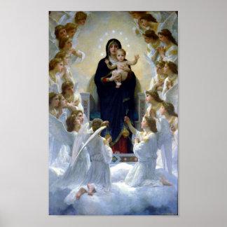 Reina de Madona de los ángeles Bouguereau Regina A Póster