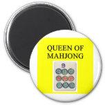Reina de MAHJONG Imán Para Frigorifico
