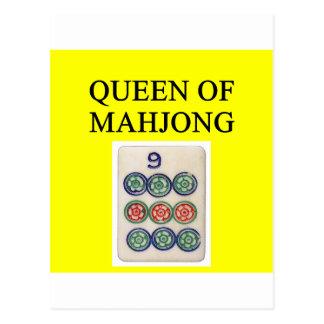 Reina de MAHJONG Tarjetas Postales