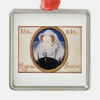 Reina de Maria de escocés (1542-87) (aguazo en la Adorno Navideño Cuadrado De Metal