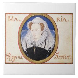 Reina de Maria de escocés (1542-87) (aguazo en la  Azulejo Cuadrado Grande