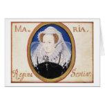 Reina de Maria de escocés (1542-87) (aguazo en la  Tarjeta De Felicitación