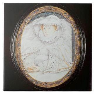 Reina de Maria de escocés (1542-87) como viuda Azulejo Cuadrado Grande