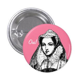 Reina de Maria del sí escocés Pinback Pin Redondo De 1 Pulgada