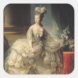 Reina de Marie Antonieta de Francia, 1779 Pegatina Cuadrada