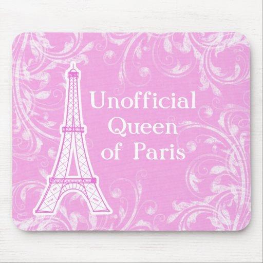 Reina de París Mousepads Tapetes De Ratones