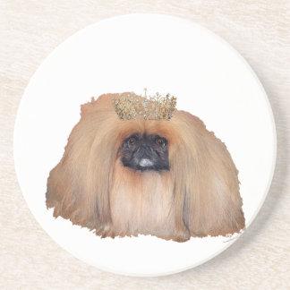 Reina de Pekingese (personalizar si usted desea!) Posavasos Personalizados