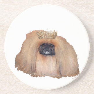 Reina de Pekingese (personalizar si usted desea!) Posavasos Manualidades