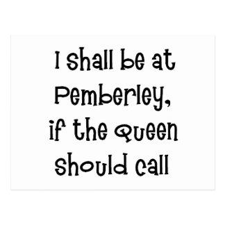 Reina de Pemberley Tarjetas Postales