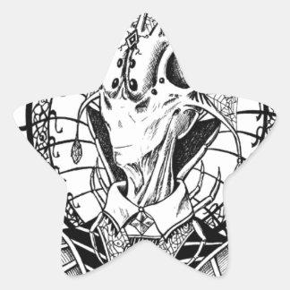 Reina de Regina del Arachne Pegatina En Forma De Estrella