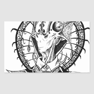 Reina de Regina del Arachne Pegatina Rectangular