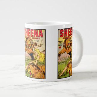 Reina de Sheena de la selva Taza De Café Grande