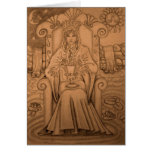 Reina de tazas - carta de tarot tarjetas