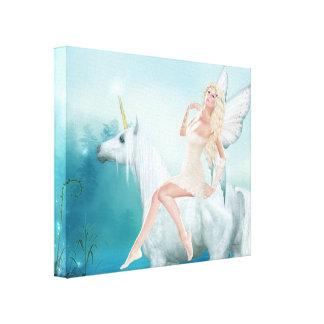 Reina de unicornios impresiones de lienzo