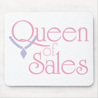 Reina de ventas en blanco alfombrilla de raton