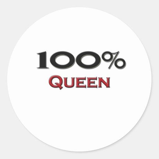 Reina del 100 por ciento etiquetas