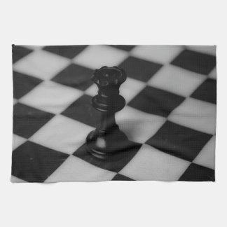 Reina del ajedrez toallas de cocina