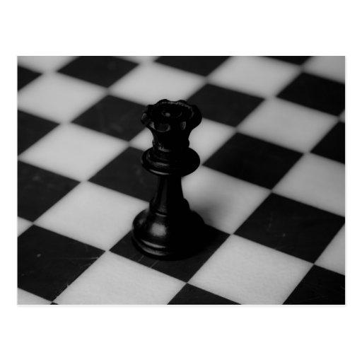 Reina del ajedrez tarjetas postales