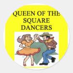 reina del baile cuadrado pegatina