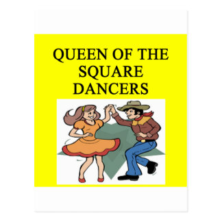 reina del baile cuadrado postal