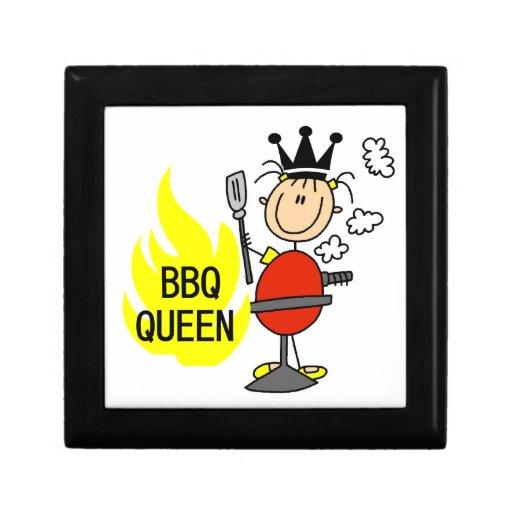 Reina del Bbq Caja De Regalo Cuadrada Pequeña