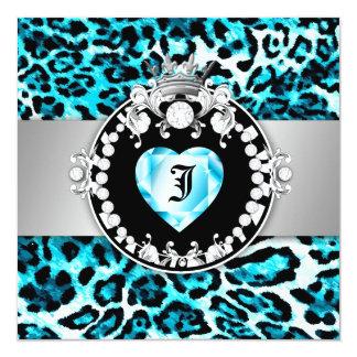 """Reina del beso de 311 Leopardos-Tique de los Invitación 5.25"""" X 5.25"""""""